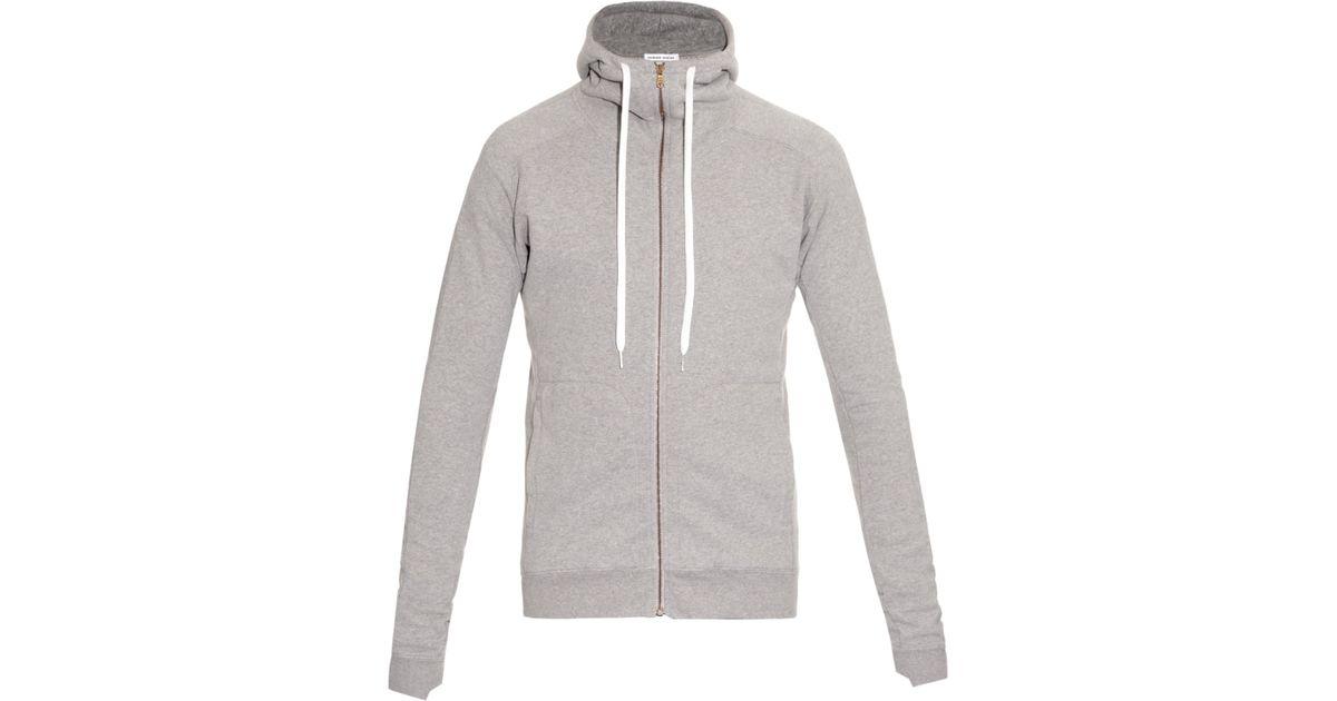 f2f273d48 Lyst - Tomas Maier Melange Cotton Hooded Sweatshirt in Gray for Men