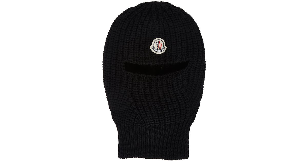 moncler black wool balaclava