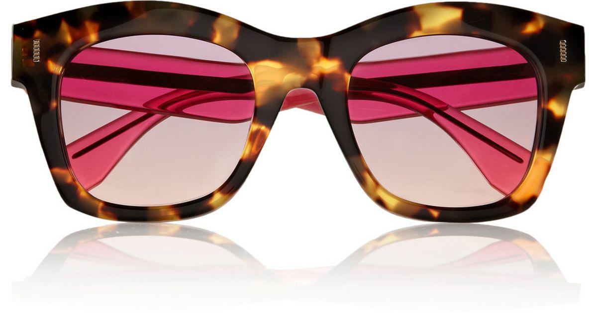 028a7a068c Fendi Two-Tone D-Frame Acetate Sunglasses in Brown - Lyst