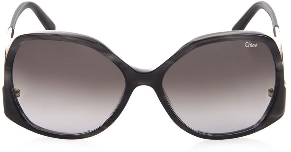 c1a33470daa5 Lyst - Chloé Emilia Square-Framed Sunglasses in Gray