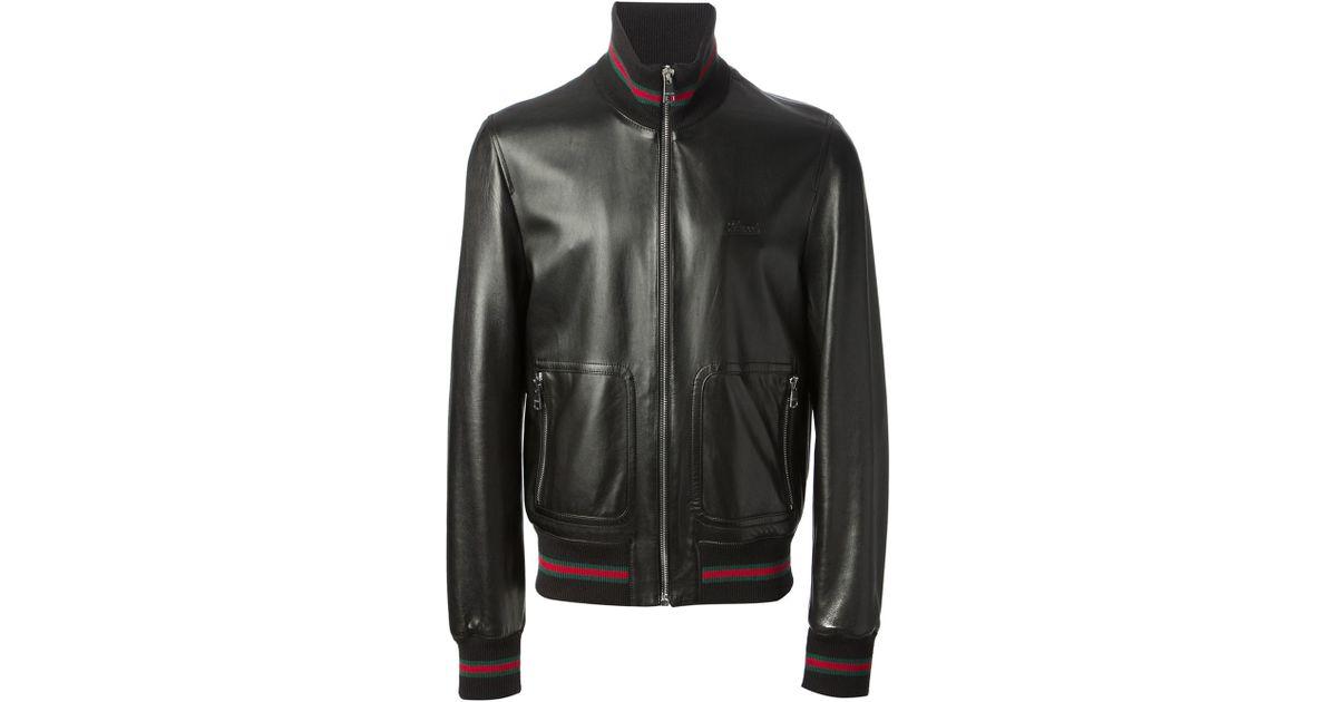 6bd4095ed2bd Gucci Bomber Jacket in Black for Men - Lyst