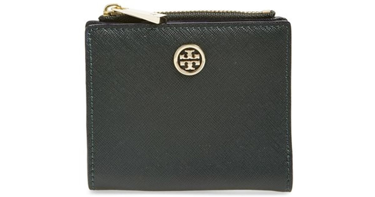 432059c4c752 ... coupon code lyst tory burch robinson mini wallet in green 9f3b3 3b9ea