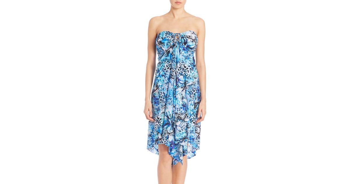 909dd3b5ed Gottex Oasis Bandeau Dress in Blue - Lyst