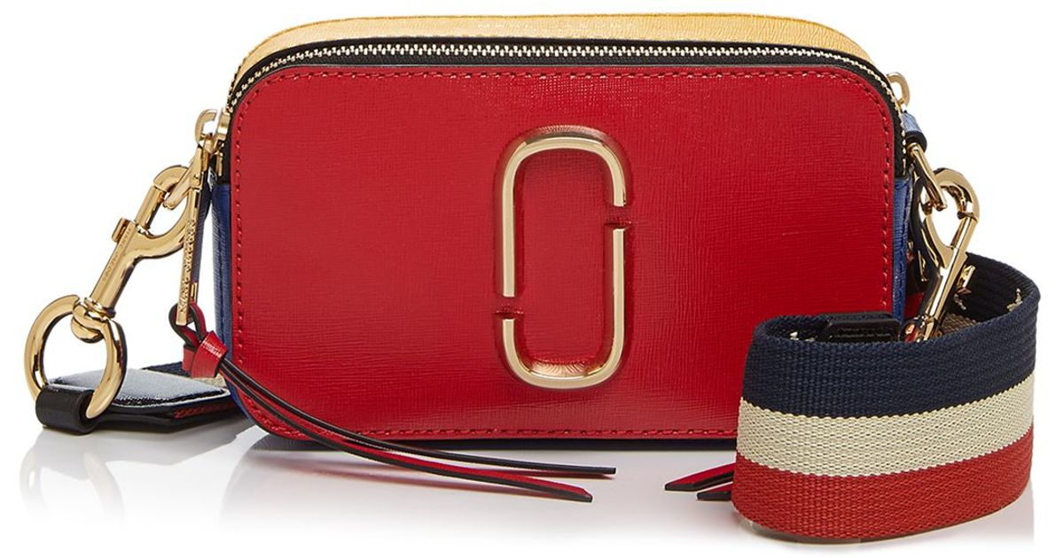 7b3024fc090b Lyst - Marc Jacobs Snapshot Color Block Crossbody in Red