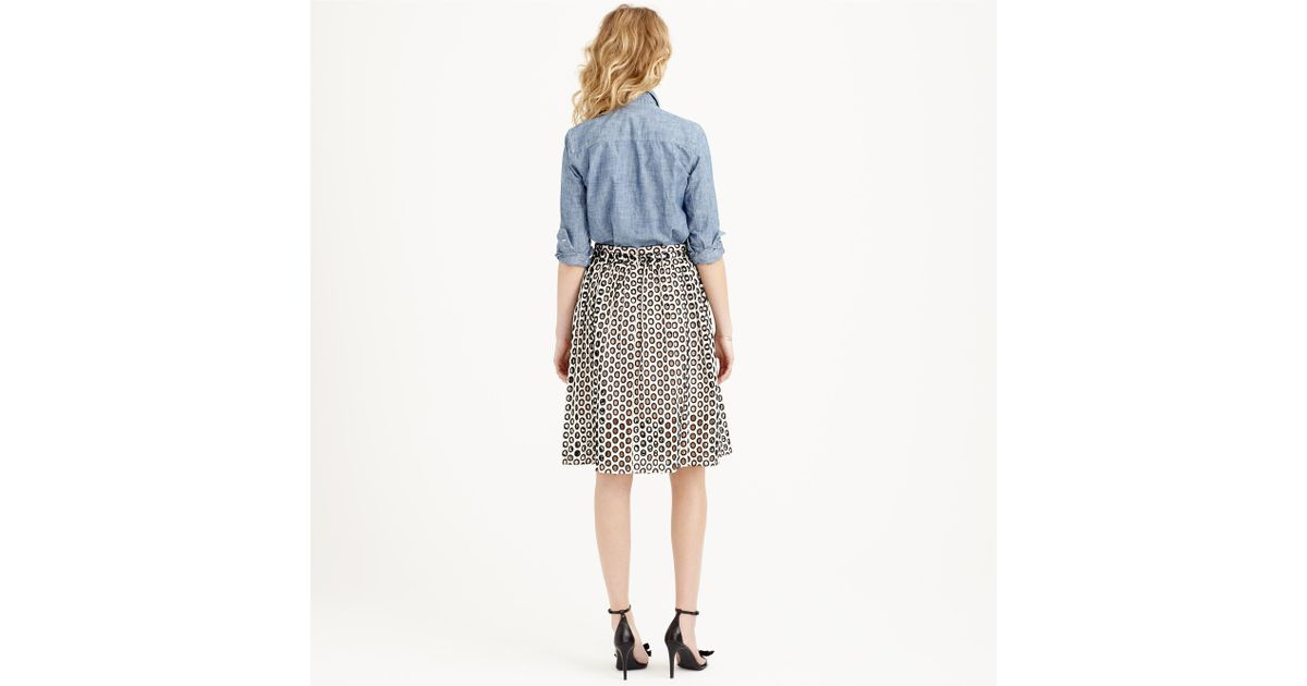 d0b54139436 Lyst - J.Crew Punched-out Eyelet Skirt in White