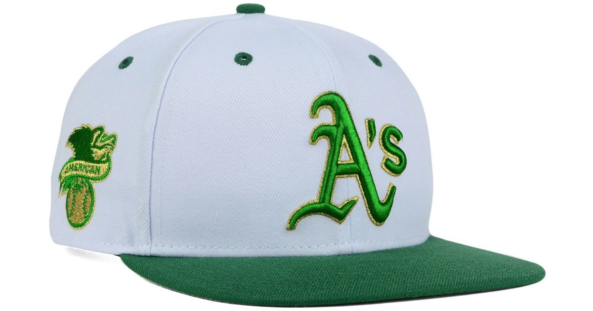 the best attitude 607ba 92f68 ... 9fifty cap 30299 5f6c1 uk lyst 47 brand oakland athletics gold rush snapback  cap in green for men 64770 f7615 ...