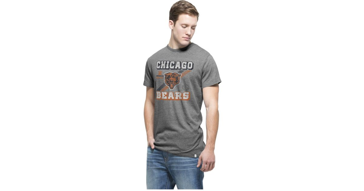 Lyst - 47 Brand Men s Chicago Bears Retro Tri-state T-shirt in Gray for Men 2a641112a
