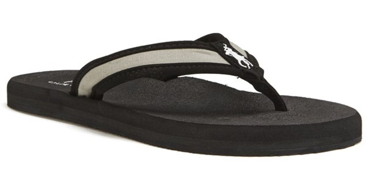 5f7c40971c8 Polo Ralph Lauren Men s Almer Ii -ne Flip Flops in Black for Men - Lyst