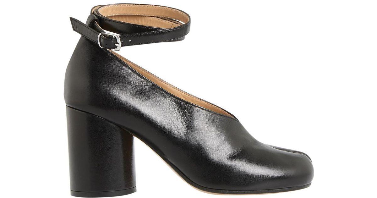 9d471661691b Lyst - Maison Margiela Black Strapped Tabi Heels in Black