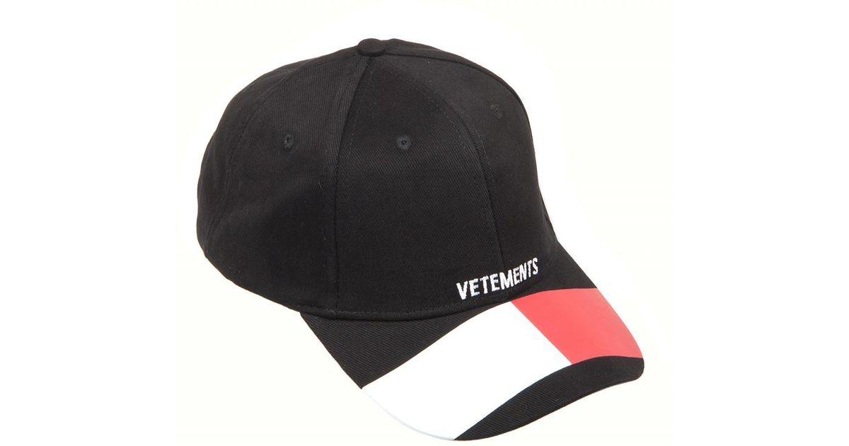Lyst - Vetements VETEMENTS Tommy cap in Black for Men 784e67293411