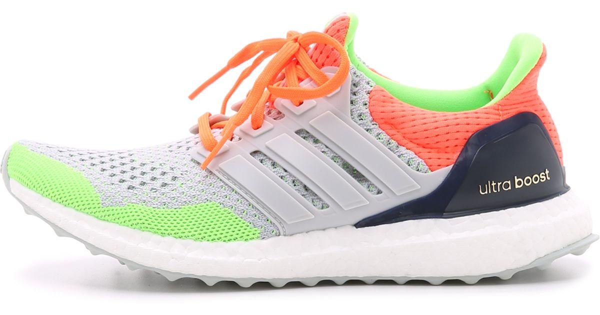 4b2537a46 adidas Ultra Boost Kolor Sneakers - Light Grey solar Orange blue in Gray -  Lyst