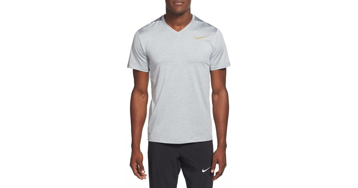 Nike 39 Ultimate Dry 39 Dri Fit Training V Neck T Shirt In