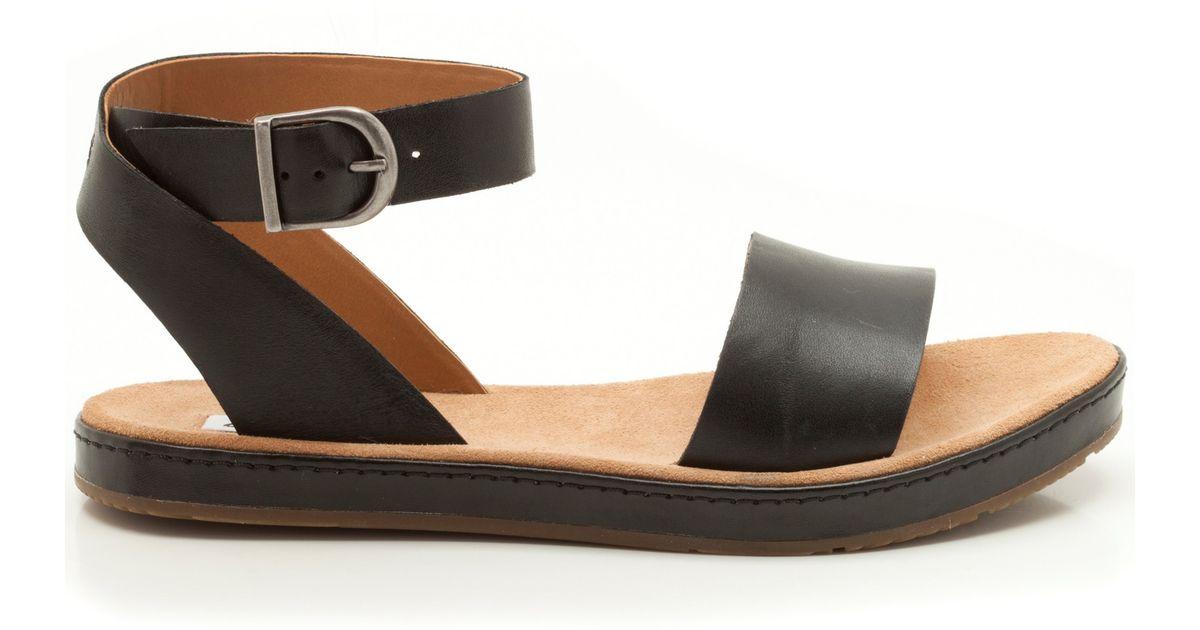 42412b6803d Clarks Romantic Moon Leather Sandals in Black - Lyst