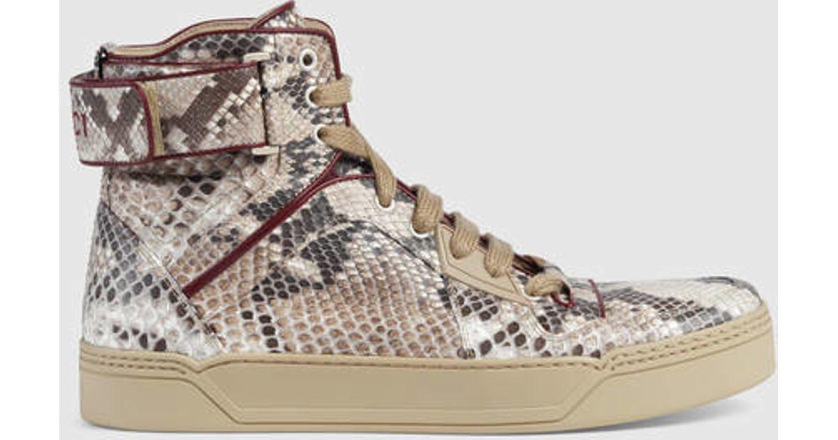 e5d6c560ac5 Lyst - Gucci Python High-top Sneaker for Men