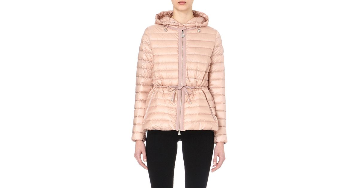 fa0215710 Lyst - Moncler Raie Quilted Jacket in Pink