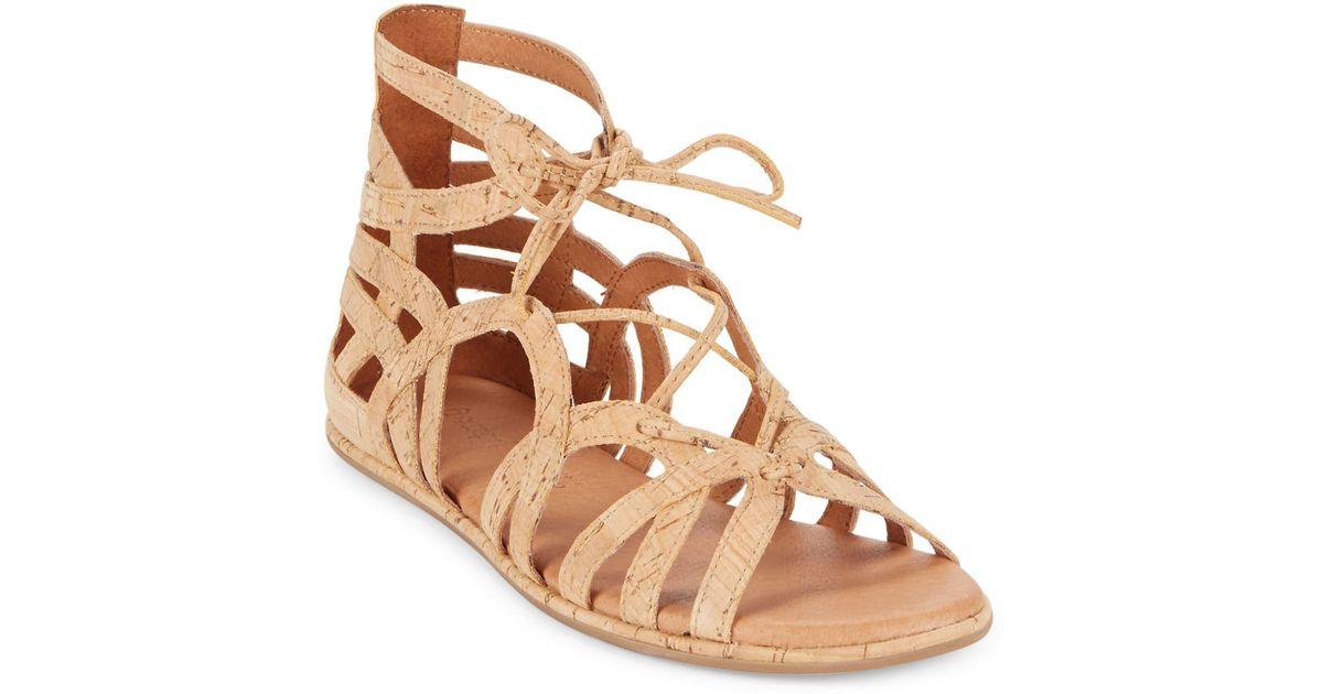 9c2e4225a41 Lyst - Gentle Souls Break My Heart Cork Sandals in Natural