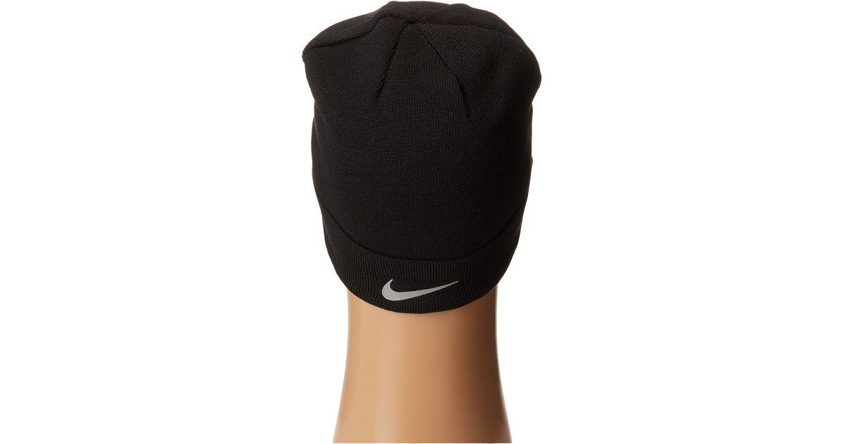 Lyst - Nike Run Crew Radar Beanie in Black for Men d298bda6551