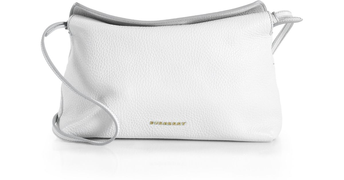 c431c3c133e4 Lyst - Burberry Leah Small Shoulder Bag in White