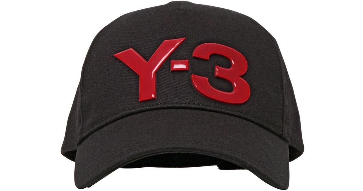 Lyst - Y-3 Logo Cap in Black for Men c5c75048e15