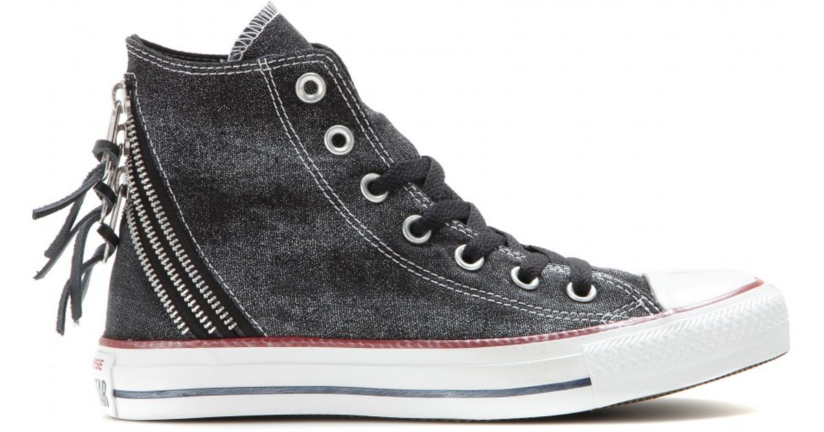 25a541d51808ab Lyst - Converse Chuck Taylor Triple Zip High-Tops in Black