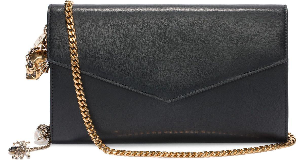 Wallet on Chain leather shoulder bag Alexander McQueen phhjde6xpf