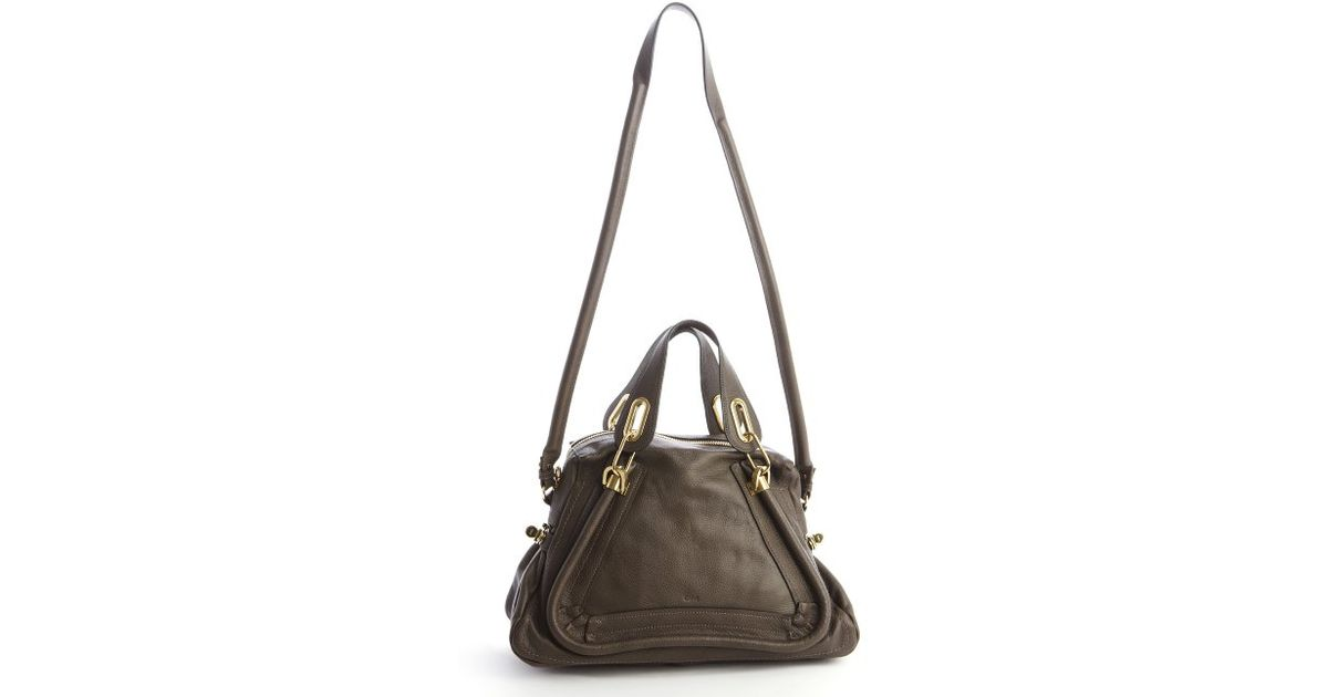 Chlo¨¦ Rock Leather \u0026#39;paraty\u0026#39; Convertible Satchel in Brown | Lyst