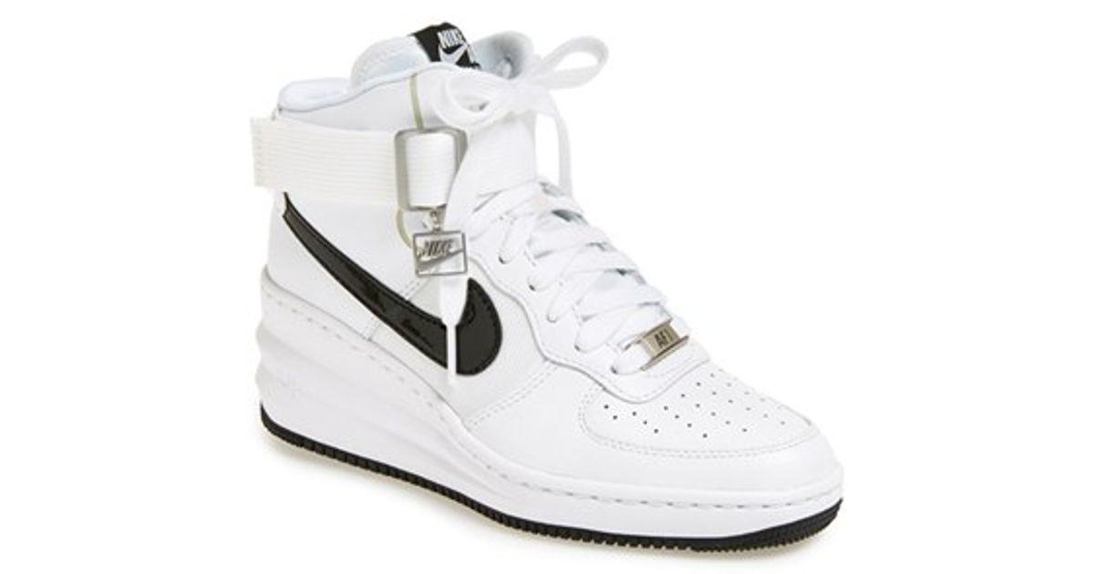 d12b114d673 Lyst - Nike  lunar Force Sky Hi  Wedge Sneaker in White