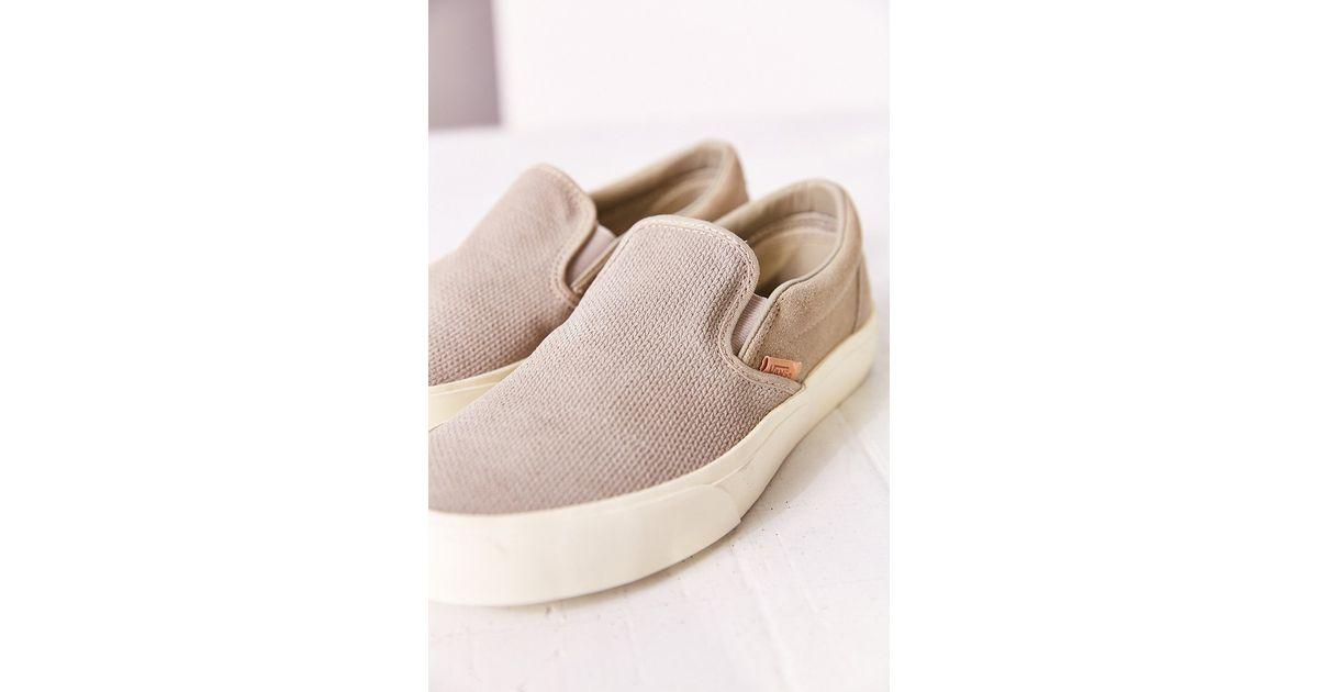 766970ae8a Lyst - Vans Classic Knit Suede Slip-on Women s Sneaker in Gray