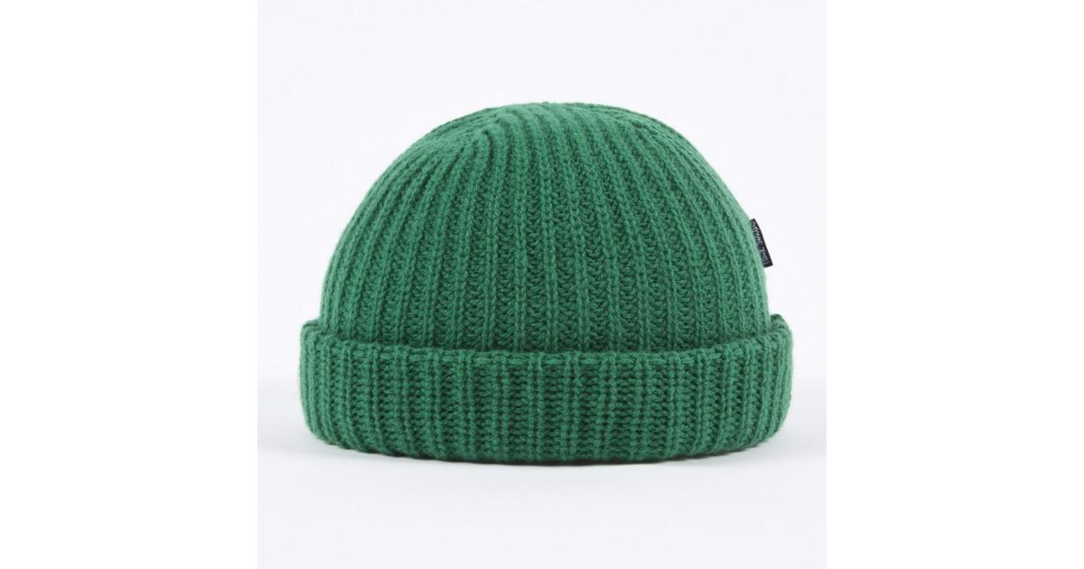Paul Smith Green Ribbed Knit Wool Beanie Hat in Green for Men - Lyst daa9f19493e