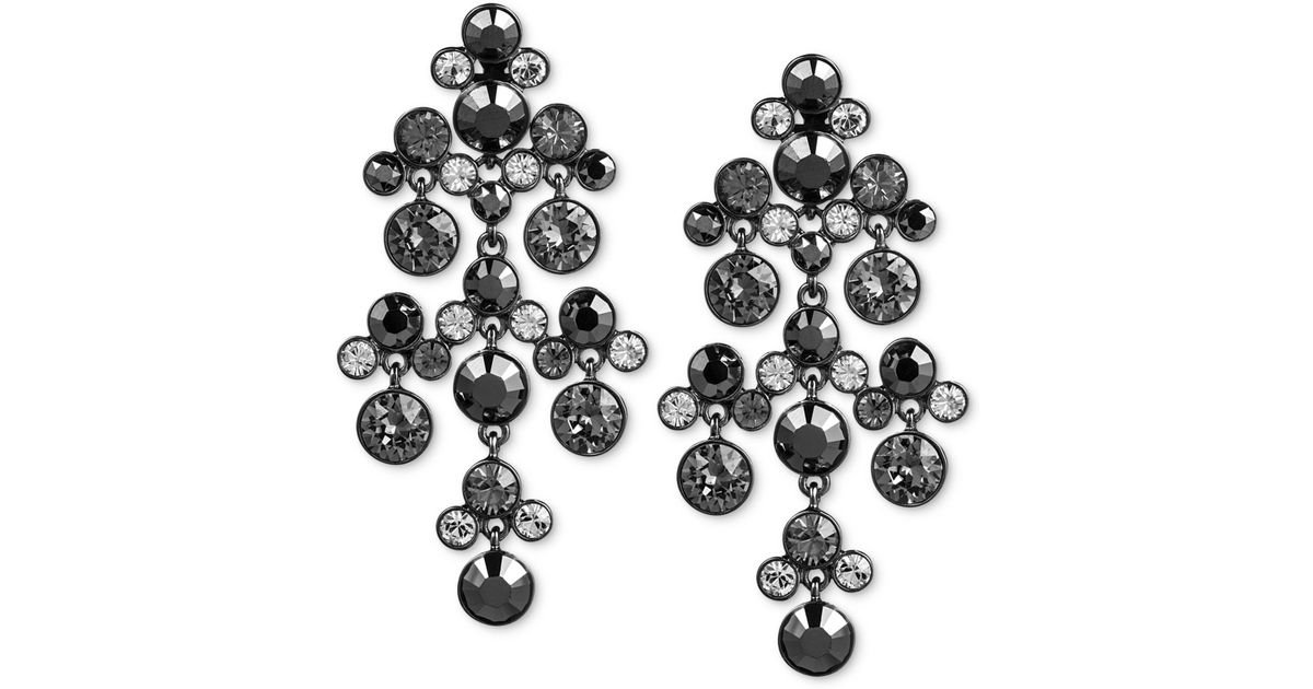 Black Jet Chandelier Earrings Designs