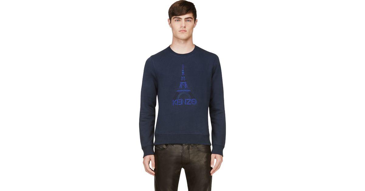 295fdcdc KENZO 'Eiffel Tower' Sweatshirt in Blue for Men - Lyst