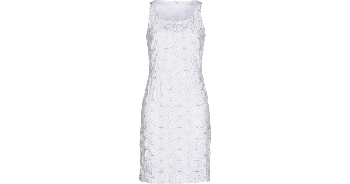 392135865b Lyst - 120% Lino Short Dress in White