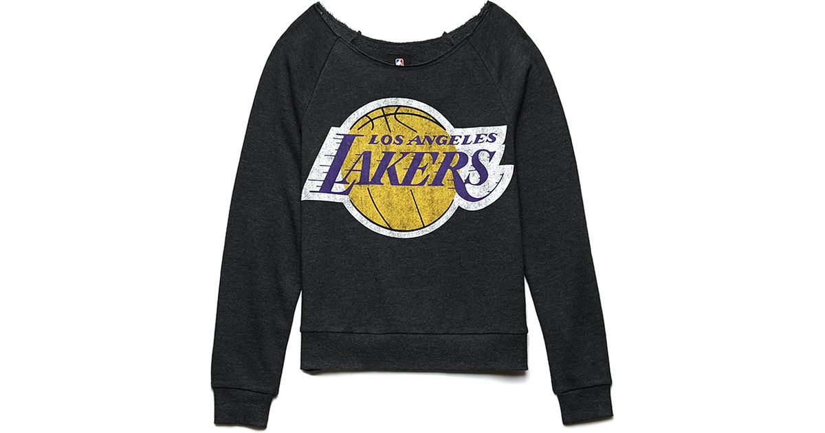85be6c2e6 Forever 21 Los Angeles Lakers Sweatshirt in Gray - Lyst