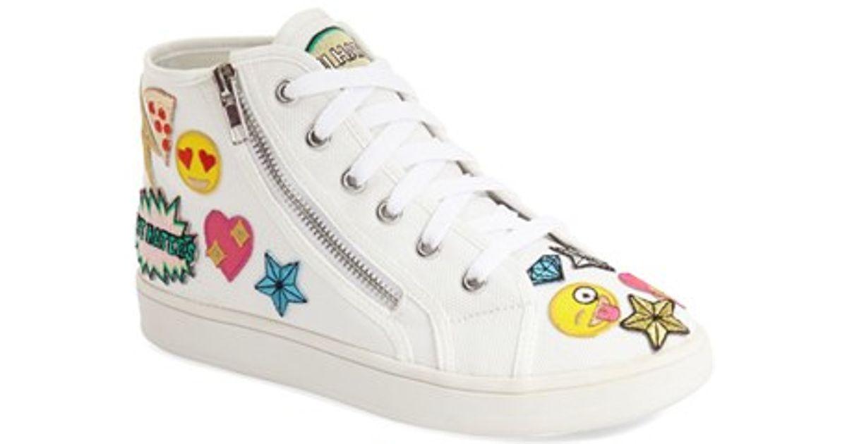 cc89cb0e4ea Lyst - Steve Madden Cobrah Emoji Sneakers in White