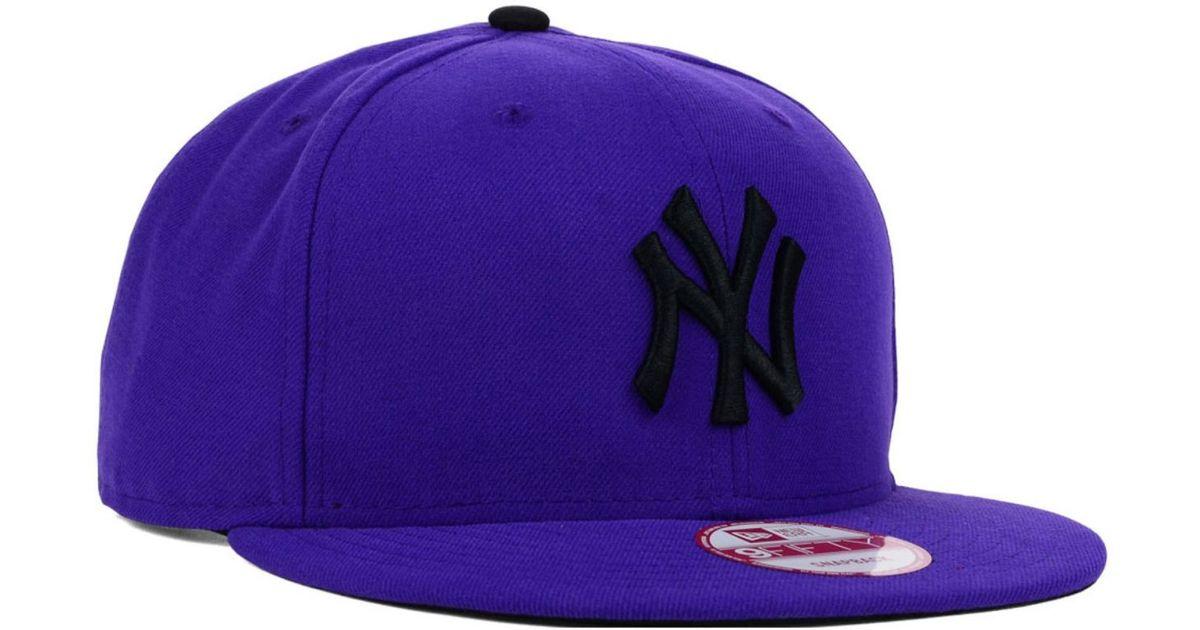 Lyst - KTZ New York Yankees Snap-dub 9fifty Snapback Cap in Purple for Men 3cf5bf43494c