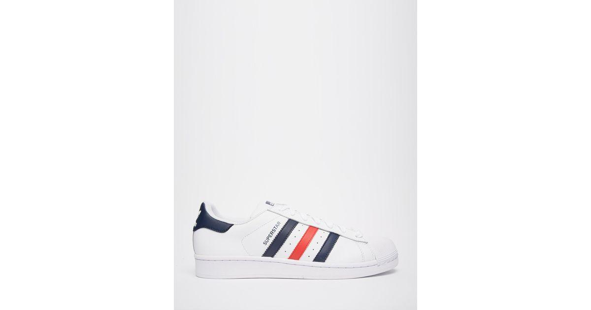 Lyst Adidas Superstar Formatori S79208 Originali In Bianco Per Gli Uomini.