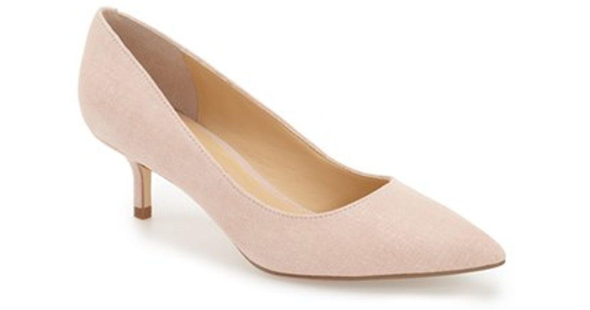 b2093f342cfe Lyst - Ivanka Trump Athyna Suede Pumps in Pink