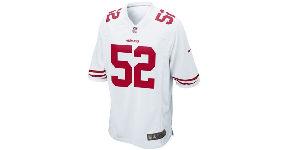 new concept 1ced3 8b857 Nike - White Men's Patrick Willis San Francisco 49ers Limited Jersey for  Men - Lyst