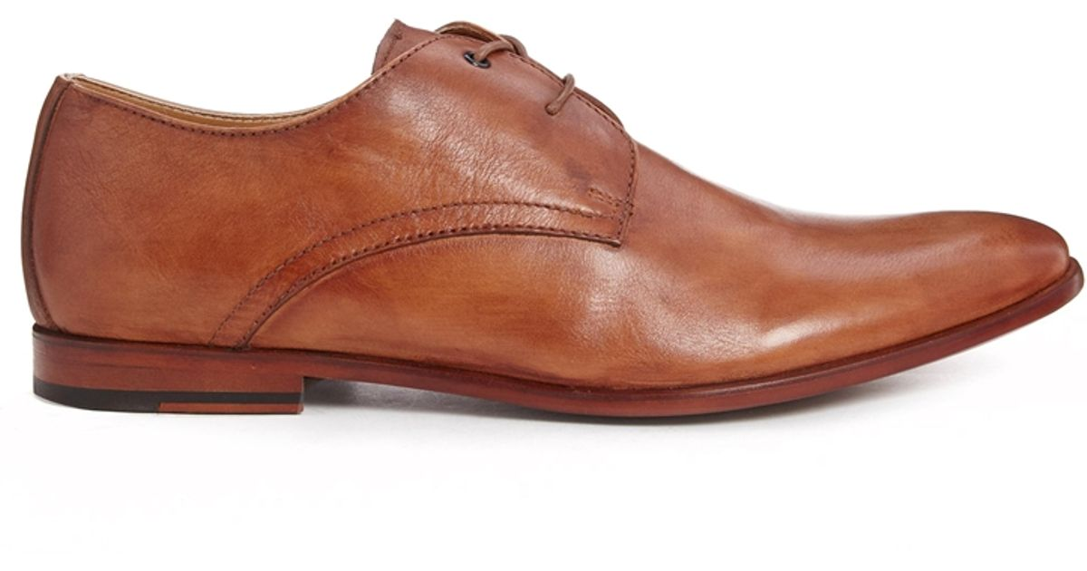 47d43905b414 Lyst - ALDO Andrews Leather Derby Shoes in Brown for Men