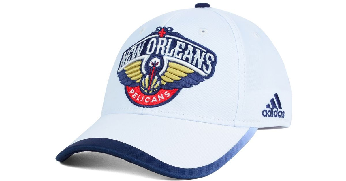 more photos e97b6 12fe5 Lyst - adidas New Orleans Pelicans Nba Timeout Flex Cap in White for Men