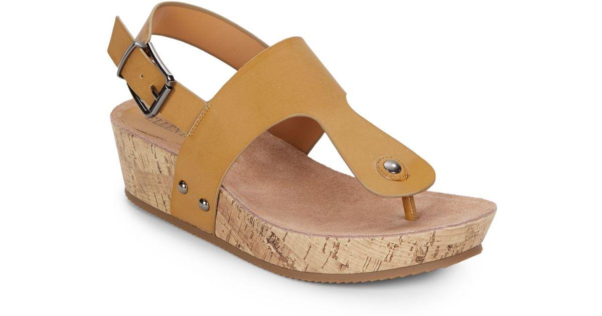 release dates sale online Ellen Tracy Embossed Wedge Sandals outlet buy shopping online sale online F6ntcZS8u