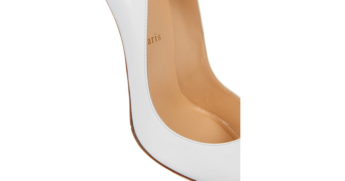 Lyst - Christian Louboutin Pigalle 100Mm Patent-Leather Pumps in White cc24e7705716