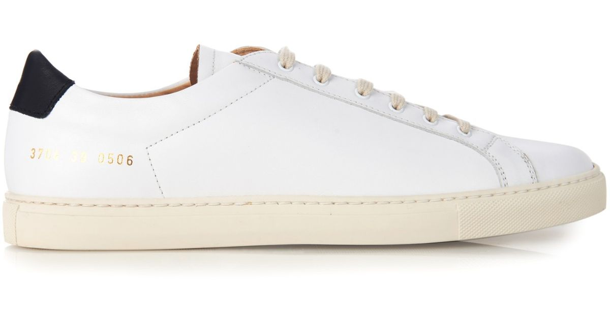 COMMON PROJECTSACHILLES RETRO LOW LEATHER SNEAKERS IRF95W