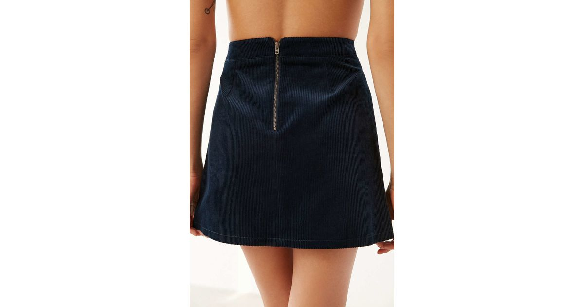 cedf6a217 BDG Corduroy A-line Utility Skirt in Blue - Lyst