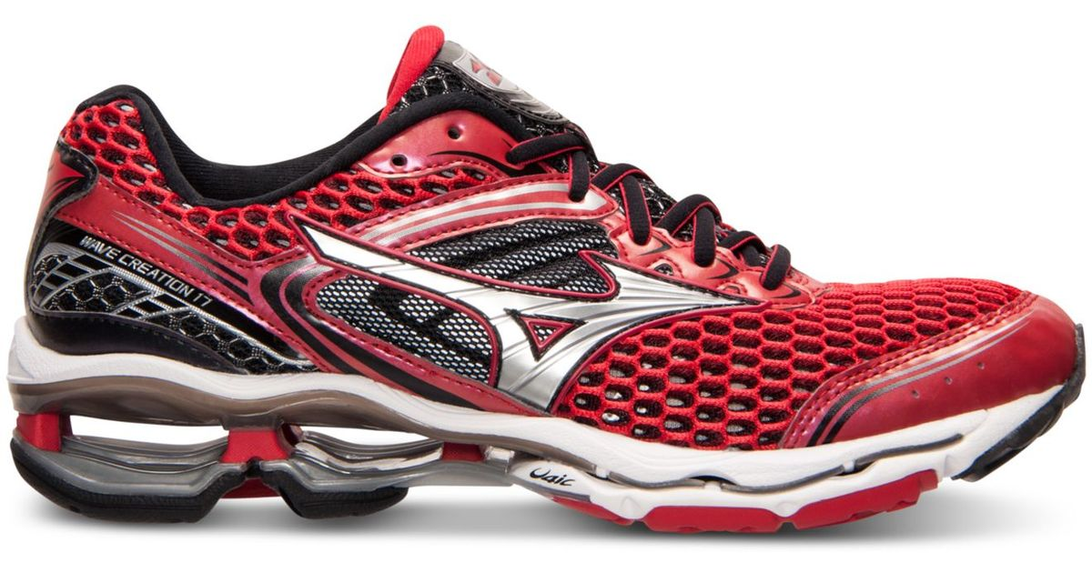 da53607842fb Mizuno Men's Wave Creation 17 Running Sneakers From Finish Line in Red for  Men - Lyst
