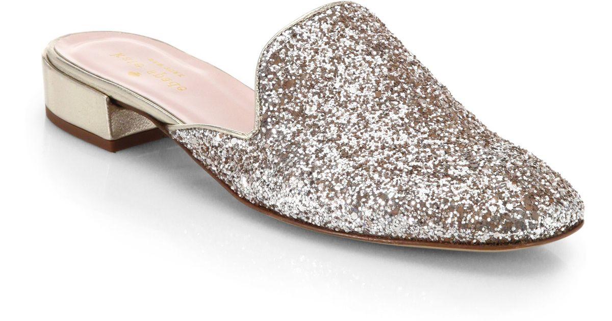 Lyst - Kate Spade Gowan Glitter Slides in Metallic fe57ffc4c