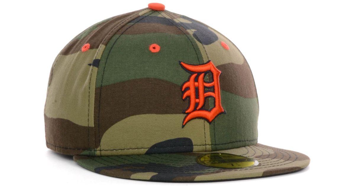 new styles 53ffd 4bd96 KTZ Detroit Tigers Mlb Camo Pop 59Fifty Cap in Green for Men - Lyst