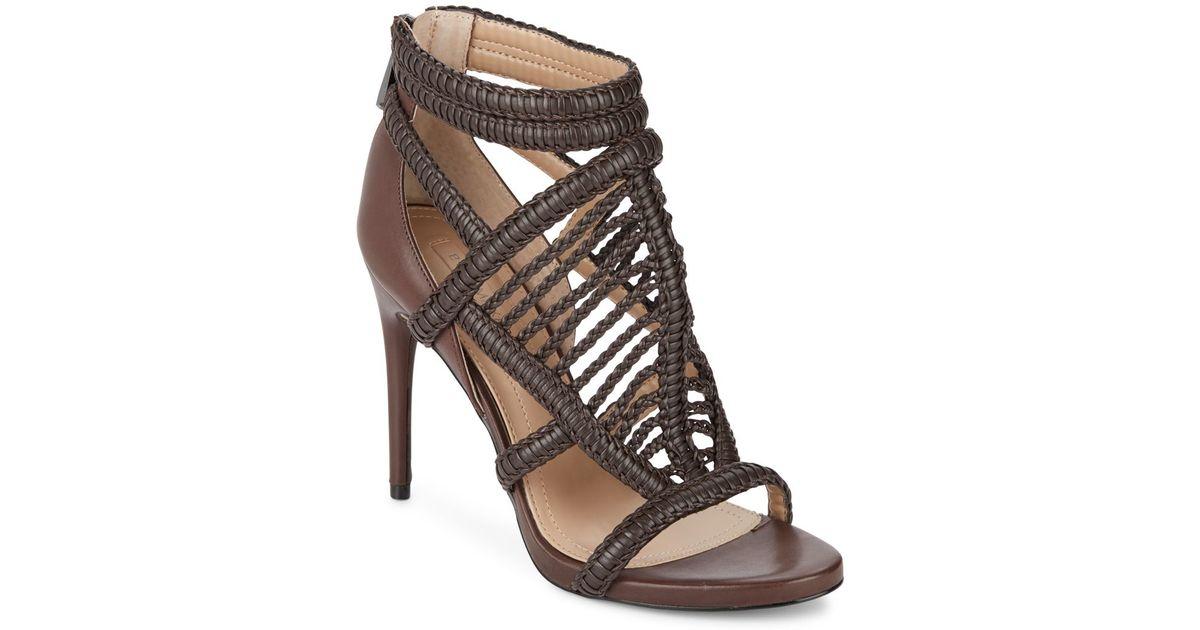 4770ced42cc31 Lyst - BCBGMAXAZRIA Dori Braided Leather Sandals in Brown