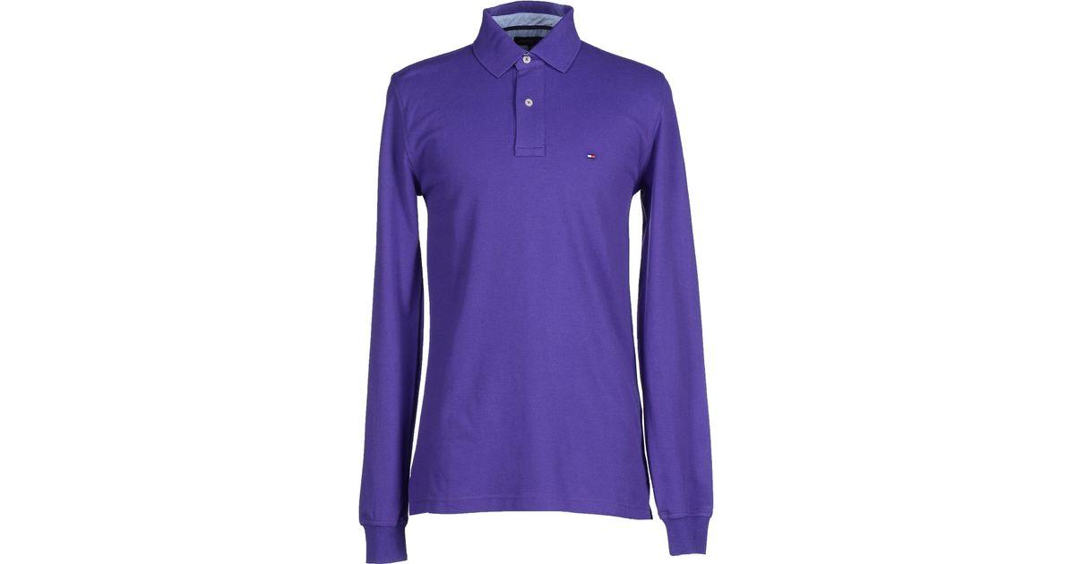 tommy hilfiger polo shirt in purple for men save 31 lyst. Black Bedroom Furniture Sets. Home Design Ideas