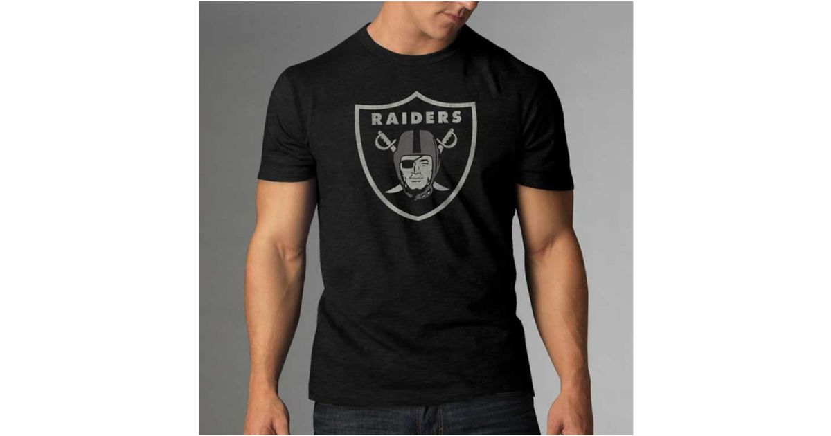47 brand Men's Oakland Raiders Logo Scrum T-shirt in Black ...